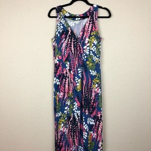 Boden Floral Printed V Neck Maxi Dress 10L